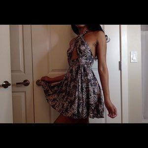 Halter mini sun dress